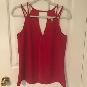 Red Strappy Top by Banana Republic fits S or M